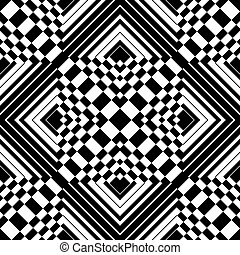 Seamless op art pattern. Vector art.