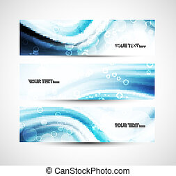 Abstract shiny header blue wave whit vector