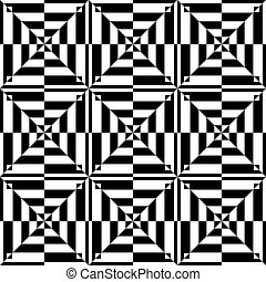 Seamless geometric op art pattern - Op art design Seamless...