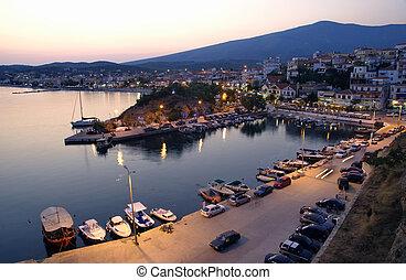 Limenaria Thassos - Port in Limenaria, island Thassos...