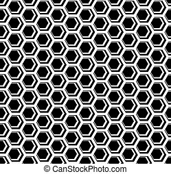Seamless hexagons cellular texture. Honeycomb motif. Vector...