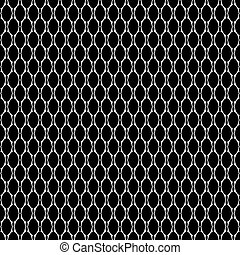 Seamless texture with oval elements. Vector art.