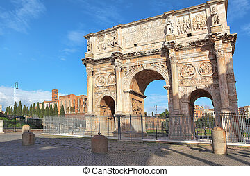 Arch of Constantine. Rome, Italy. - Famous Arch of...