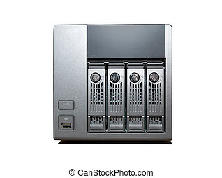 4 bay NAS Drive isolated on white - 4 bay NAS Drive isolated...