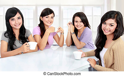 group of women having quality time together - group of women...