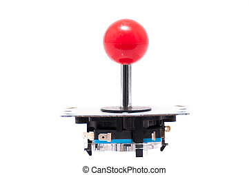 Classic Arcade joystick ball - Arcade joystick isolated on...