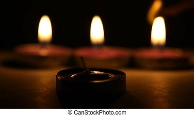 candles - Burning candle in the dark