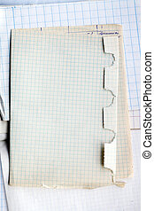 Old cross lined paper