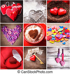 Various hearts for Valentine's day. Valentine decorations....