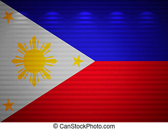 Philippine flag wall, abstract background