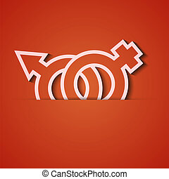 Vector background Orange icon applique Eps10