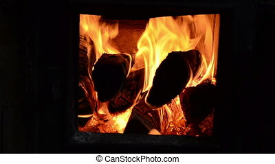 firewood wood burn macro