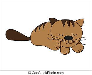 Funny kitten. Vector.