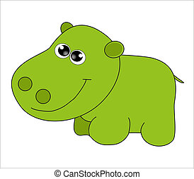 Cartoon animal. Vector