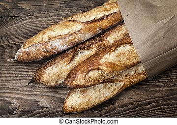 baguettes, bread