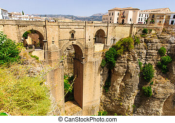 The Puente Nuevo bridge in Ronda - The Puente Nuevo is the...
