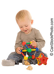 boy play with toys