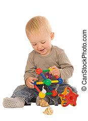 男孩, 玩, 玩具
