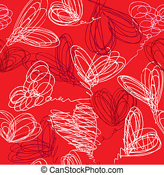 Seamless pattern with hand hearts
