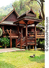 House of Thai Lanna style of Northern Thailand.