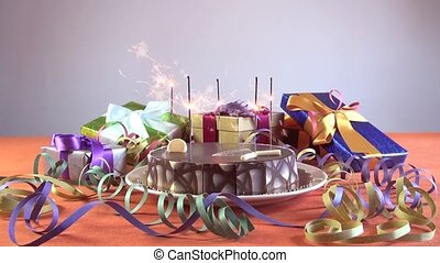 birthday cake with flares - big chocolate cake with birthday...