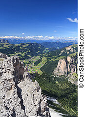 Dolomiti - Val Gardena - summer landscape of Gardena Valley...