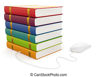 Books with computer mouse