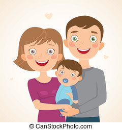 New family with boy