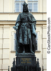 Statue of Charles IV in Prague, Czech Republic