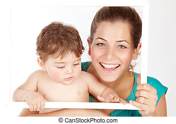 Mother with baby boy - Photo of beautiful young mother with...