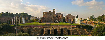 The Temple of Venus and Roma - The sight of the temple as...