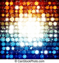 Abstract celebration background - bright colorful lights,...