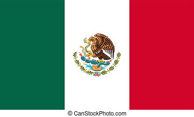 Flag of Mexico. - Basic design of the current national flag...