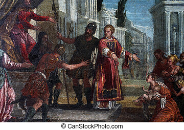St. Lawrence leads the poor prefect of Valerian