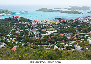 Charlotte Amalie - Looking out over Charlotte Amalie, St...