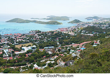 Charlotte Amalie - Looking out over Charlotte Amalie, St....