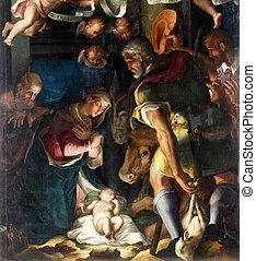 natividad, adoración, pastores