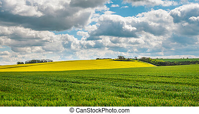 Lincolnshire Wolds - A view of the lincolnshire wolds in...