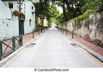 Street in residential area of Macau