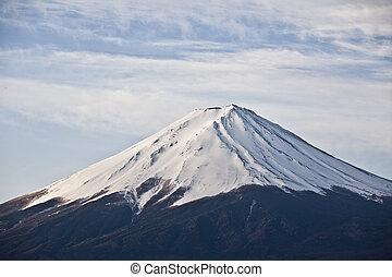 Close up Beautiful Mount Fuji, japan