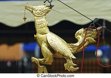 Thai swan gold in temple