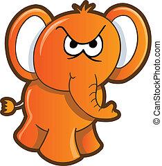 enojado,  vector, elefante