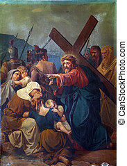 8th Stations of the Cross, Jesus meets the daughters of...