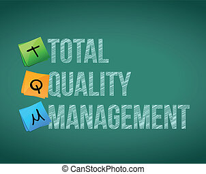 total quality management illustration design over a white...