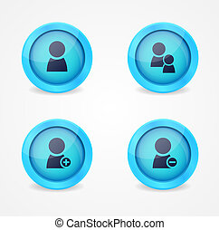 Set of glossy internet icons. Vector icons