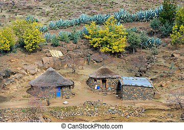 Rural settlement - Small huts typical of rural settlements...