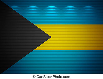 Bahamian flag wall, abstract background