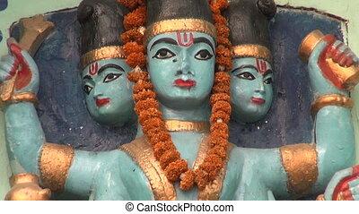 hindu gods in Varanasi temple, India