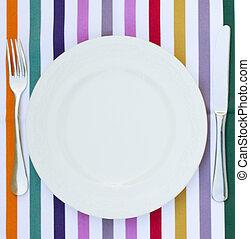 vazio, branca, prato
