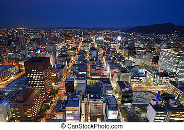 Downtown Sapporo Cityscape - Cityscape of Downtown Sapporo,...